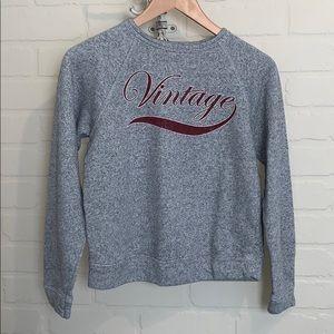 Forever 21 sweatshirt gray medium vintage print